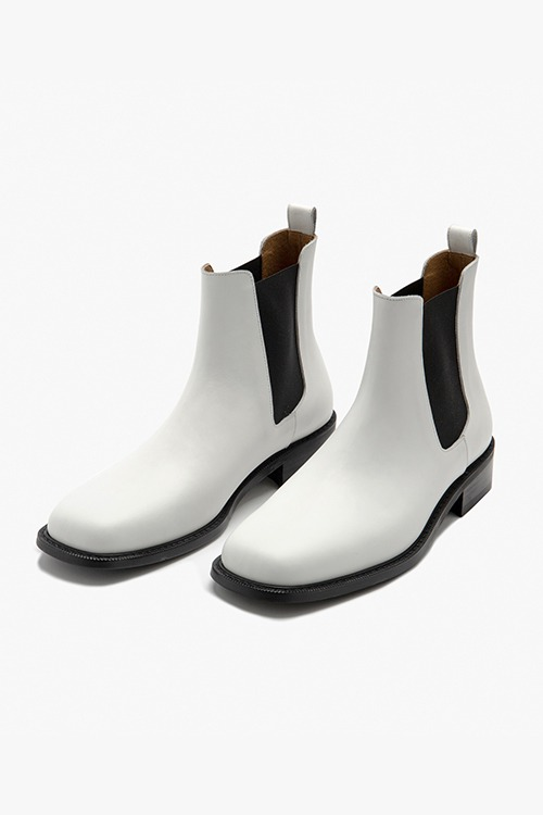[New Arrival SALE]셀렉션 스퀘어토 첼시 부츠 R21M025 (화이트)  Selection Square Toe Chelsea Boot (White)