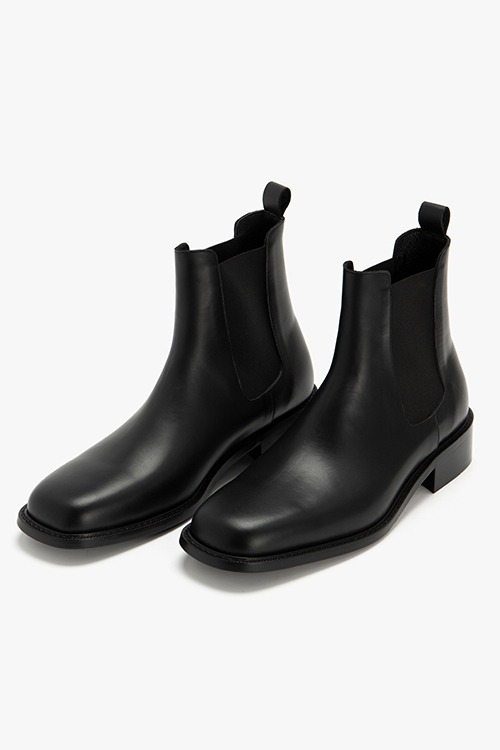 [New Arrival SALE]셀렉션 스퀘어토 첼시 부츠 R21M025 (블랙)  Selection Square Toe Chelsea Boot (Black)